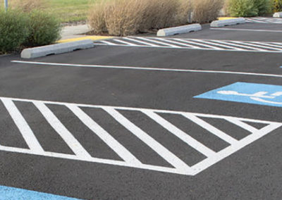 23848267 - handicapped parking space at business location parking lot